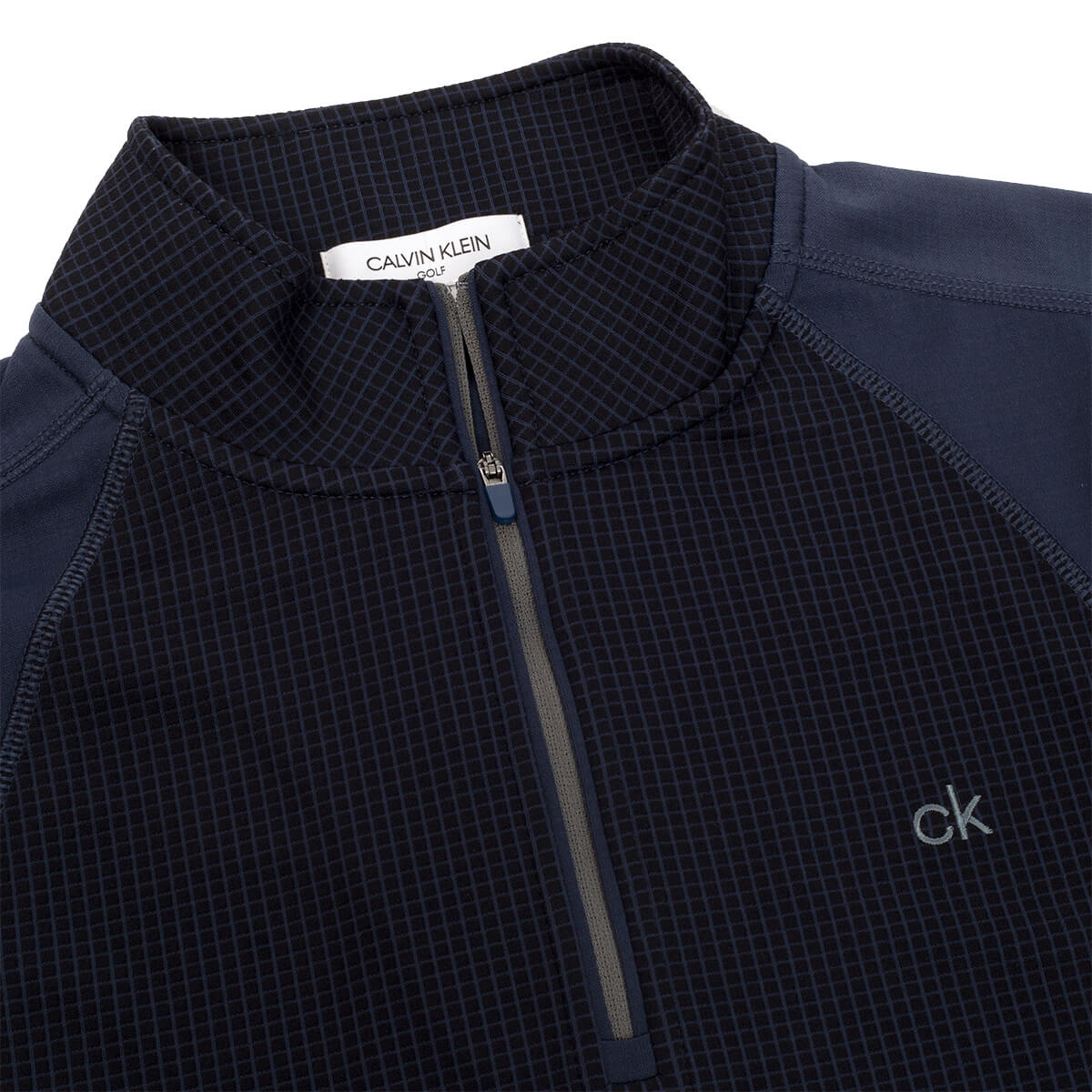 thumbnail 14 - Calvin Klein Mens 2021 Micro Grid CK 1/2 Zip Mid Layer Pullover 50% OFF RRP