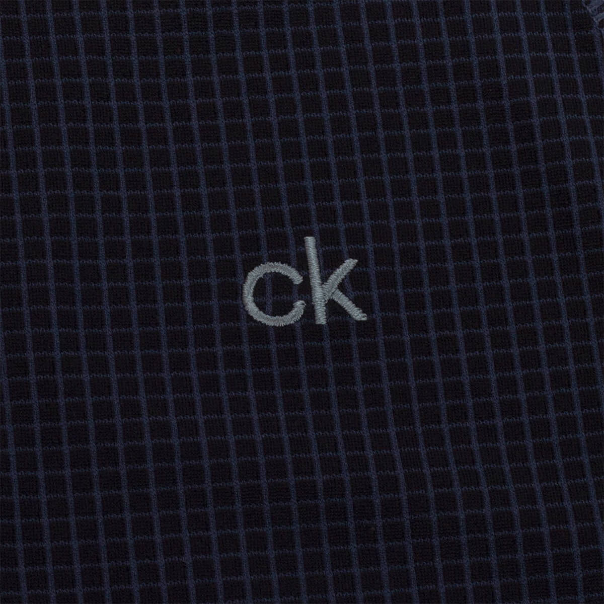 thumbnail 15 - Calvin Klein Mens 2021 Micro Grid CK 1/2 Zip Mid Layer Pullover 50% OFF RRP