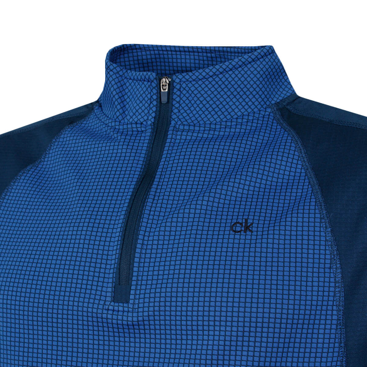 thumbnail 21 - Calvin Klein Mens 2021 Micro Grid CK 1/2 Zip Mid Layer Pullover 50% OFF RRP
