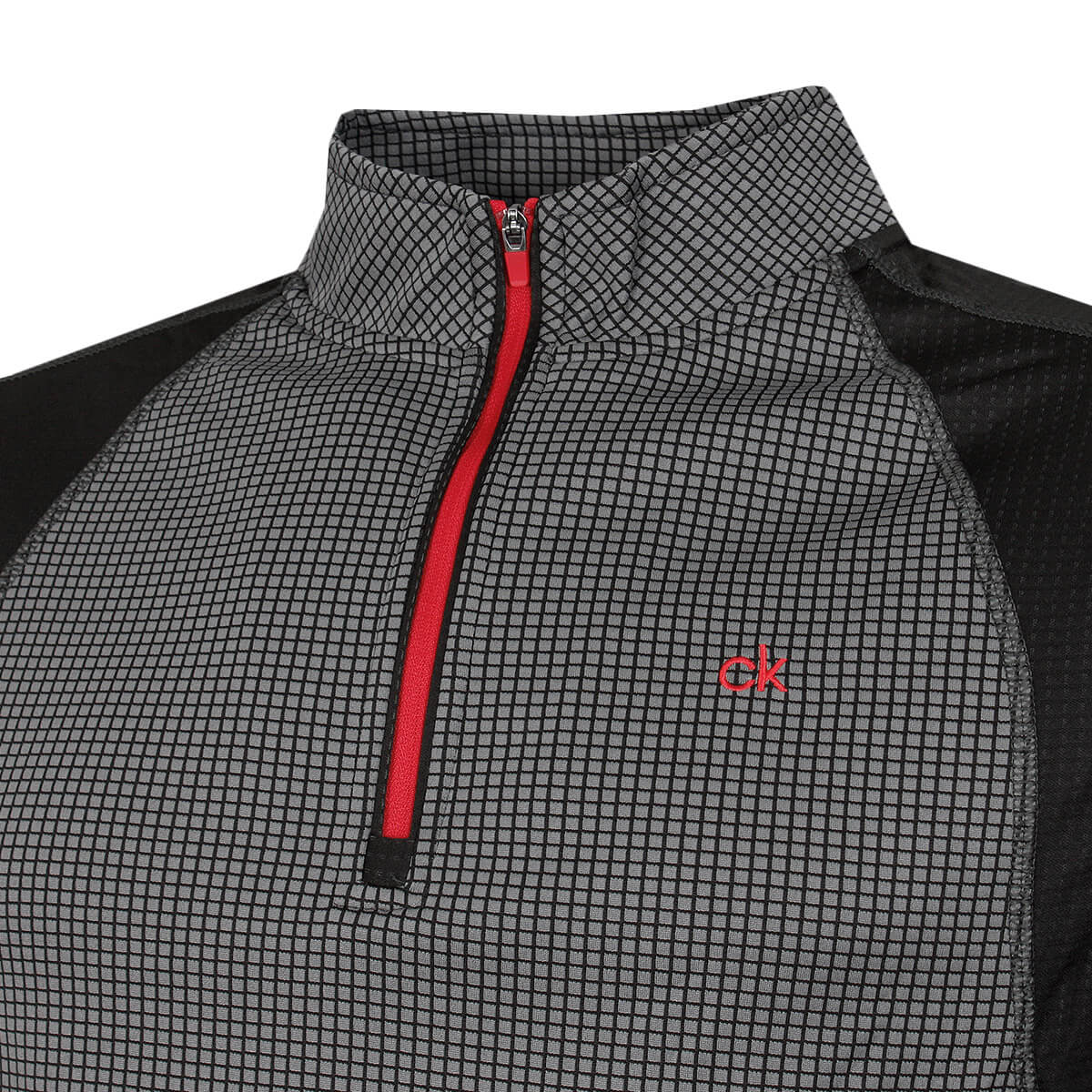 thumbnail 31 - Calvin Klein Mens 2021 Micro Grid CK 1/2 Zip Mid Layer Pullover 50% OFF RRP