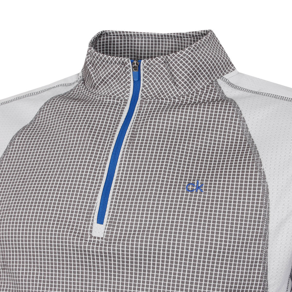 thumbnail 34 - Calvin Klein Mens 2021 Micro Grid CK 1/2 Zip Mid Layer Pullover 50% OFF RRP