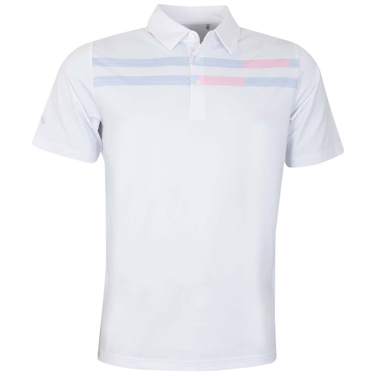 bacf184b Details about Callaway Mens 2019 Linear Printed Chevron Tour Two-Tone Golf  Polo Shirt