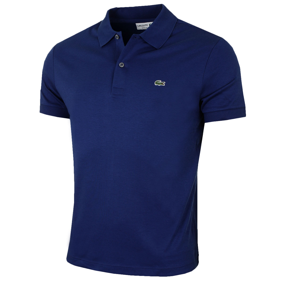 Lacoste mens dh2050 short sleeved ribbed collar cotton for Mens cotton polo shirts