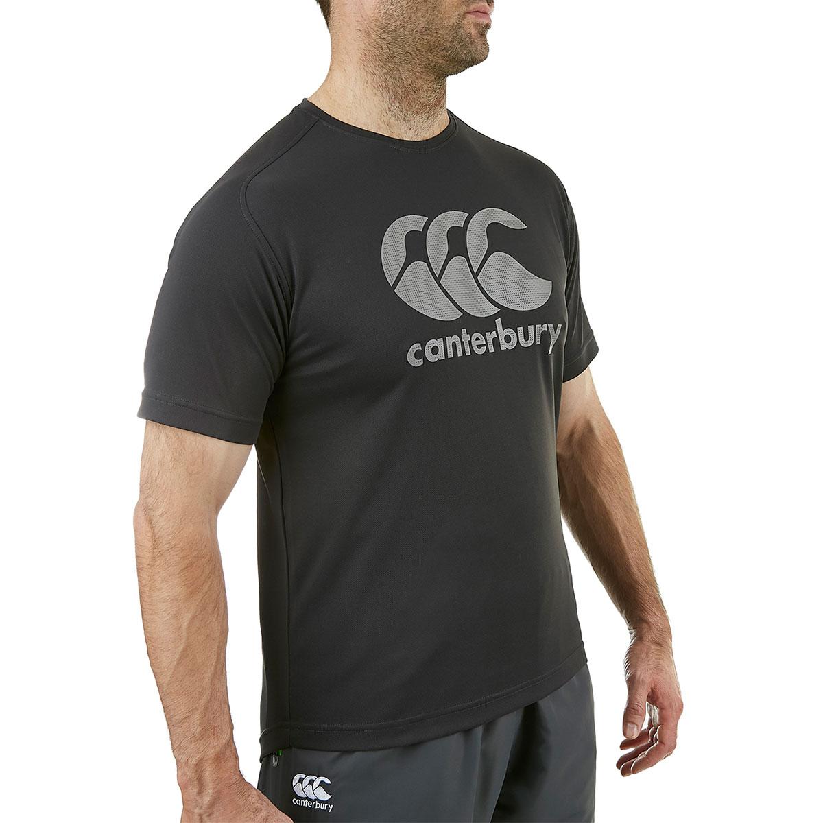Canterbury-Para-hombre-Core-vapodri-Grande-logotipo-Quickdry-transpirable-T-Shirt miniatura 13