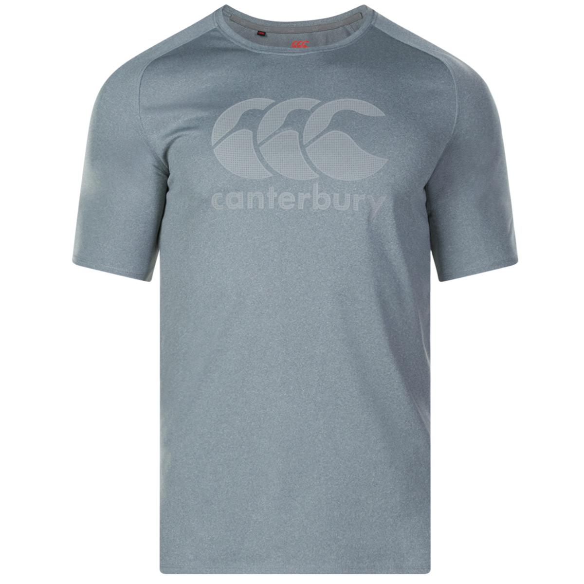 Canterbury-Para-hombre-Core-vapodri-Grande-logotipo-Quickdry-transpirable-T-Shirt miniatura 21