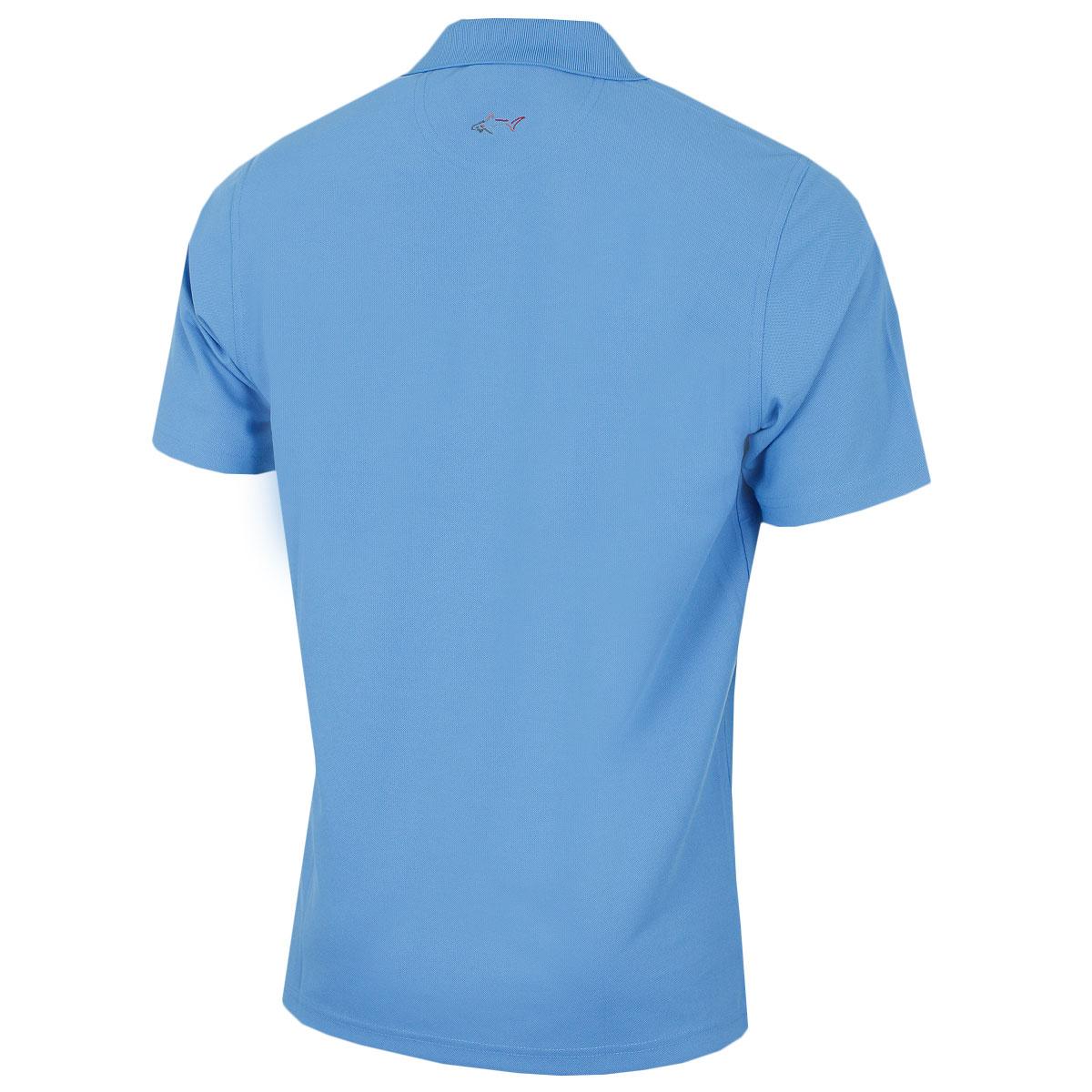 Greg-Norman-Mens-KX04-Performance-Micro-Pique-Golf-039-Large-Logo-039-Polo-Shirt thumbnail 36