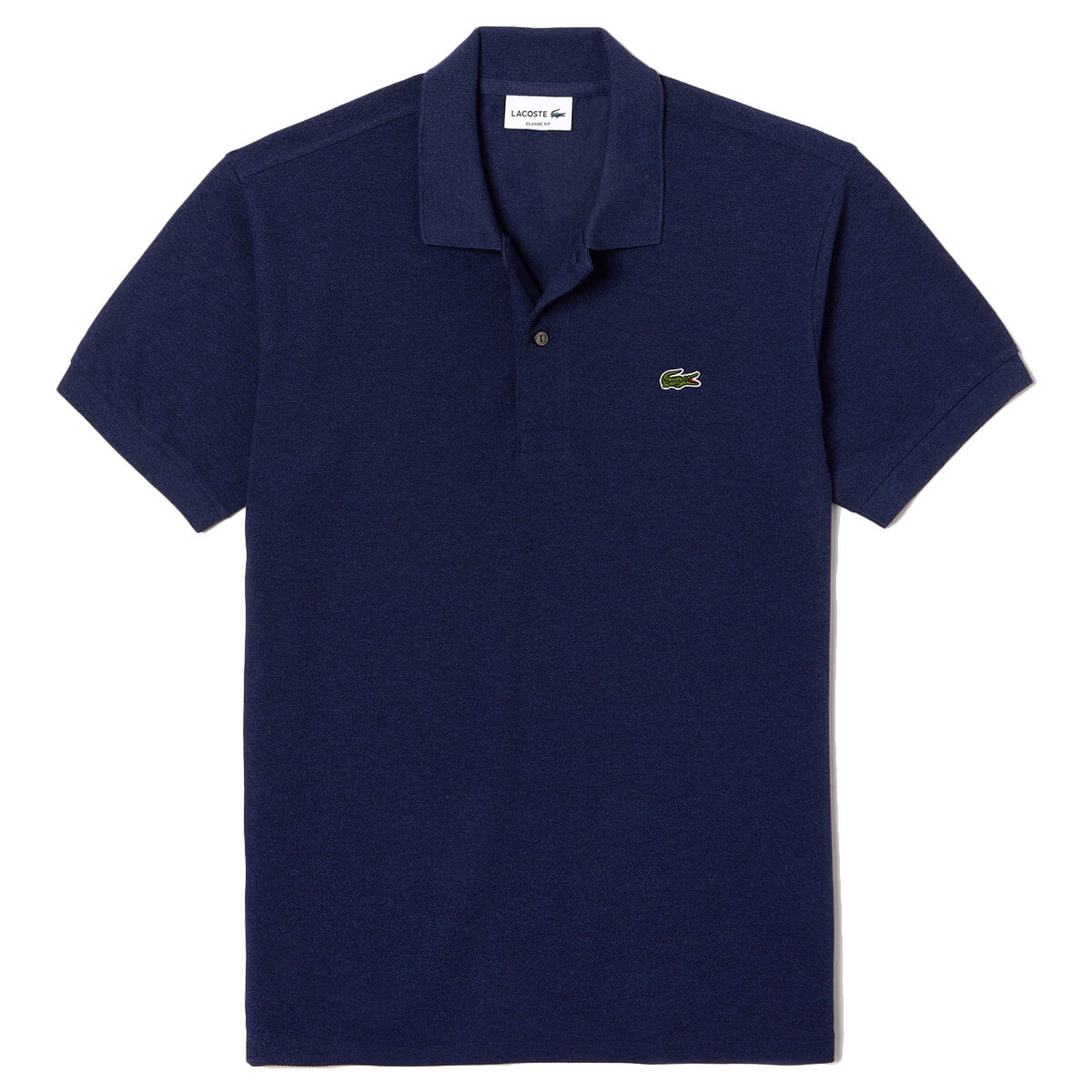 Lacoste mens l1264 original mottled short sleeve polo for Lacoste polo shirts ebay