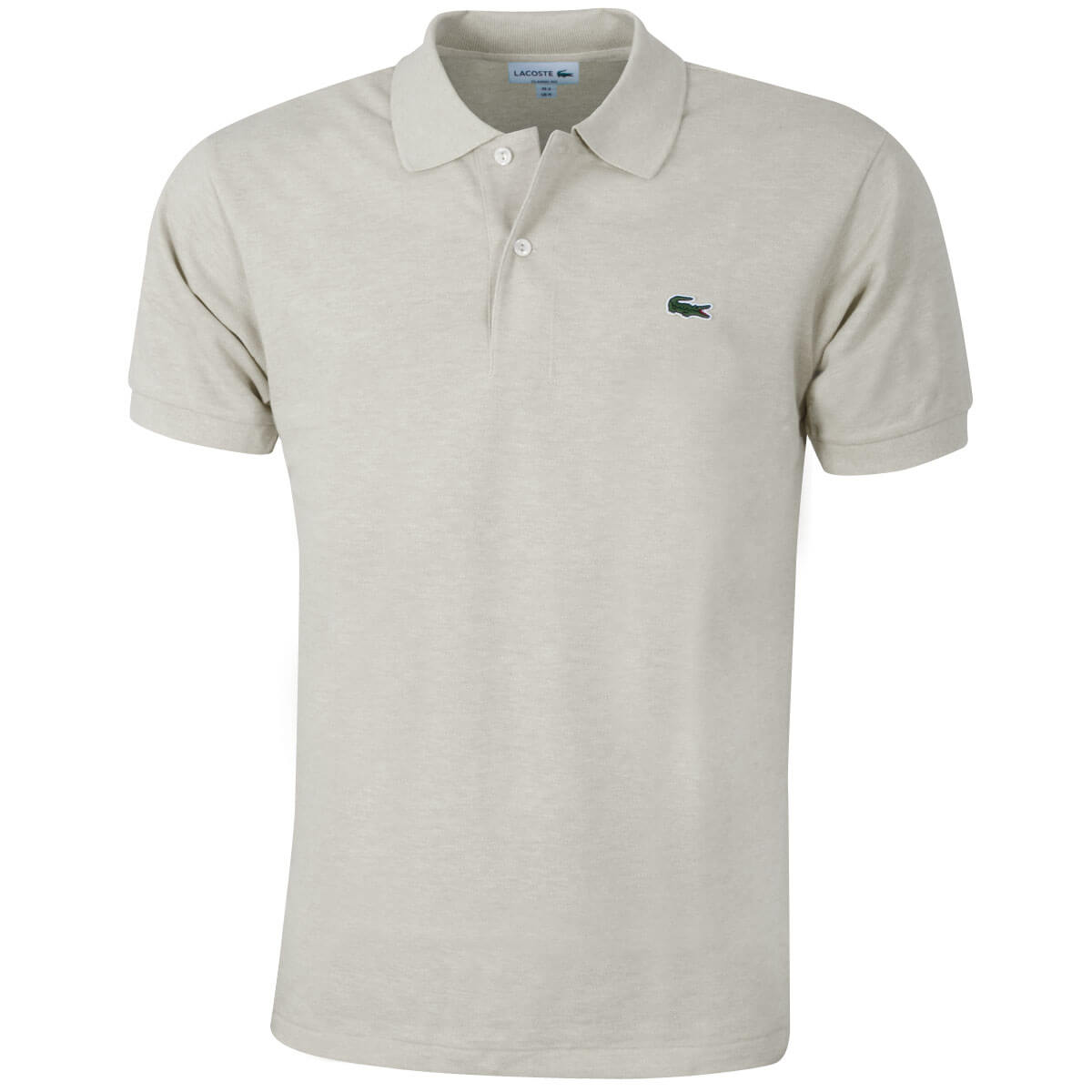 Lacoste mens 2018 l1264 original mottled short sleeve polo for Lacoste poloshirt weiay