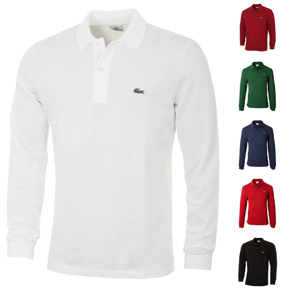 58404beac7 Lacoste Hommes 2019 Coton Classic Manches Longues L1312 Polo | eBay
