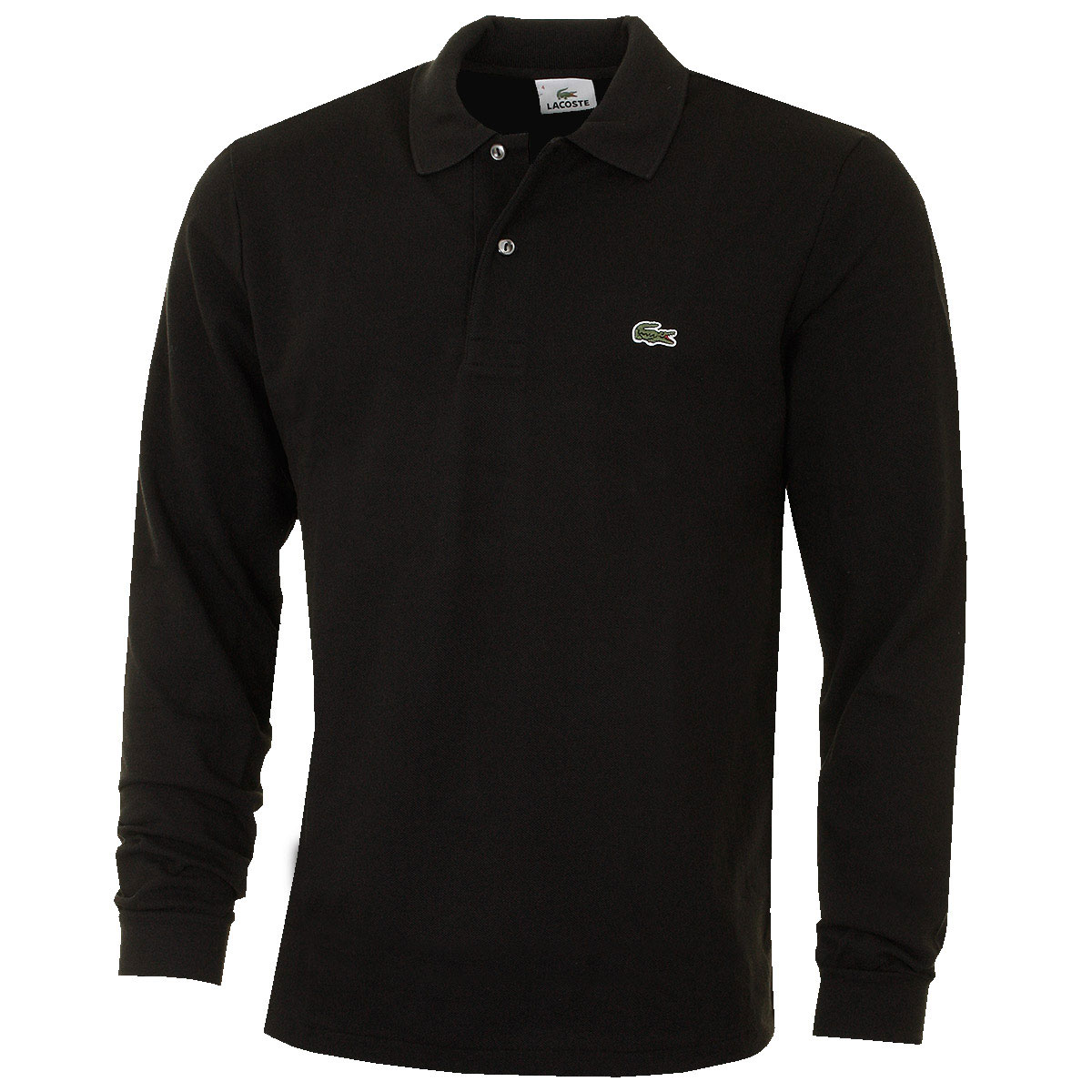 lacoste mens classic cotton long sleeve l1312 polo shirt. Black Bedroom Furniture Sets. Home Design Ideas