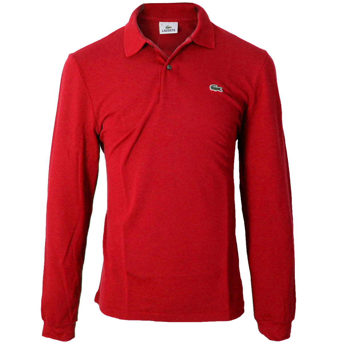 6fa9eca18c8 Lacoste Rouge Red Long-sleeved Polo Shirt 4xl