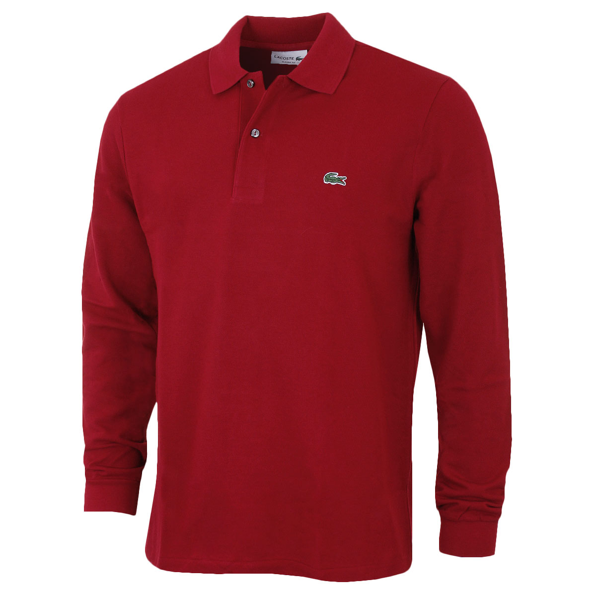 lacoste mens 2018 classic cotton long sleeve l1312 polo
