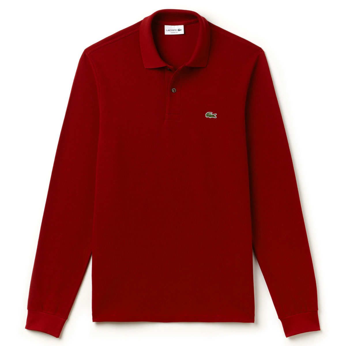 44edcb96289 Lacoste Mens 2019 Classic Cotton Long Sleeve L1312 Polo Shirt