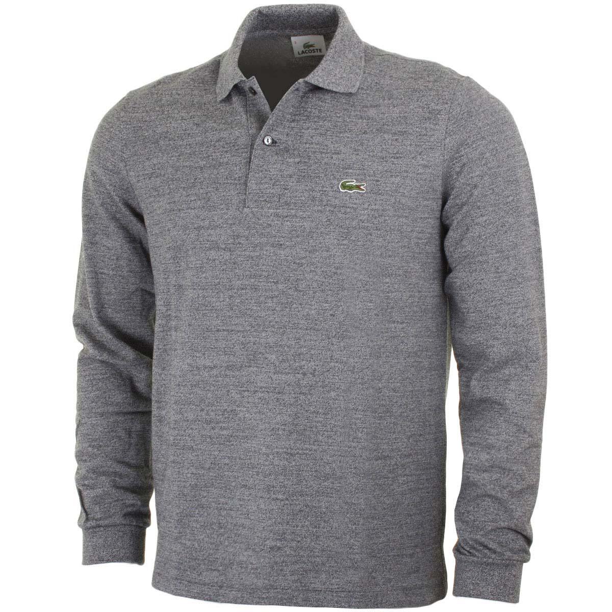 Black Long Sleeve Lacoste Polo Shirt