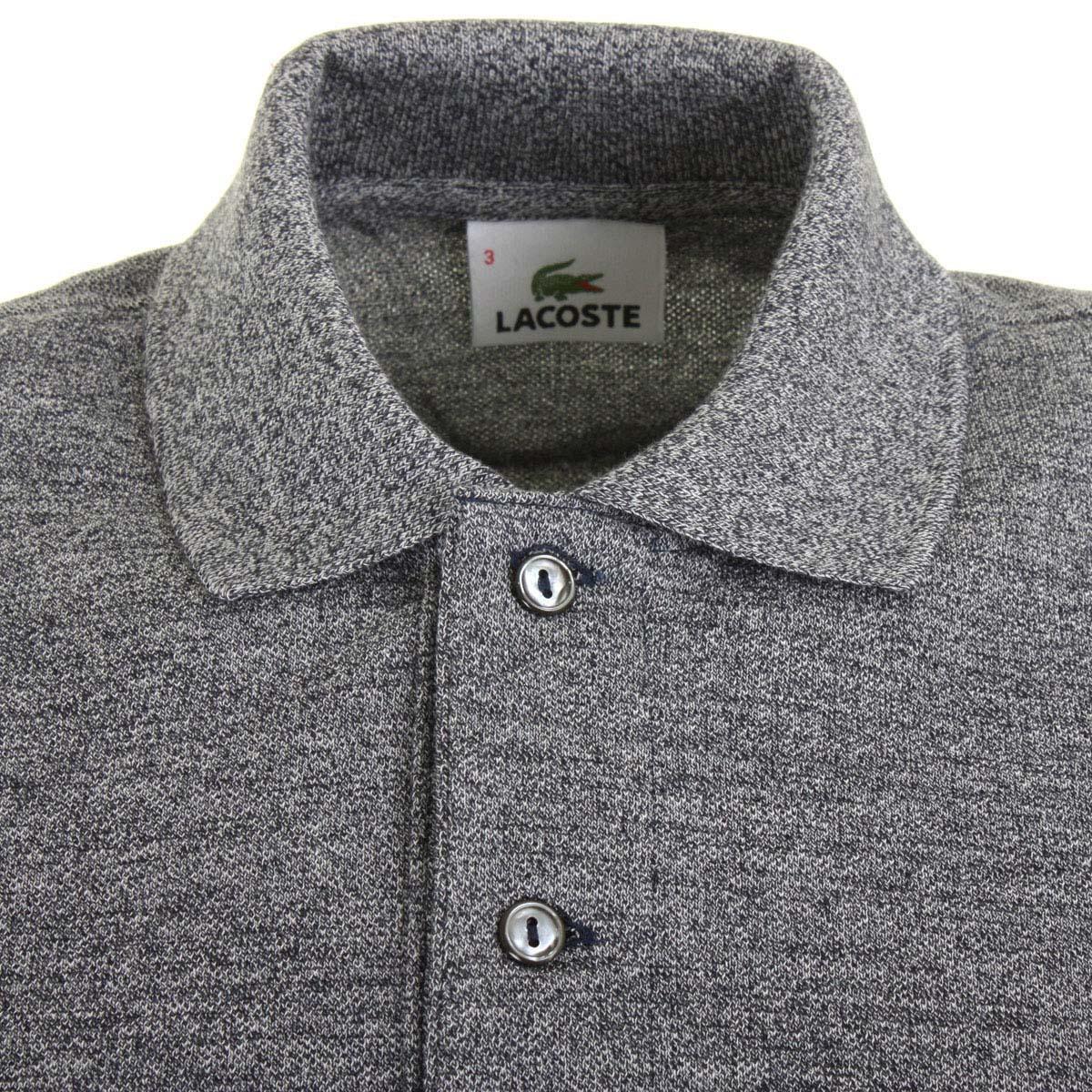 013bcba9fadcd3 Lacoste Mens L1313 Marl Long Sleeve L12.12 Polo Shirt 27% OFF RRP