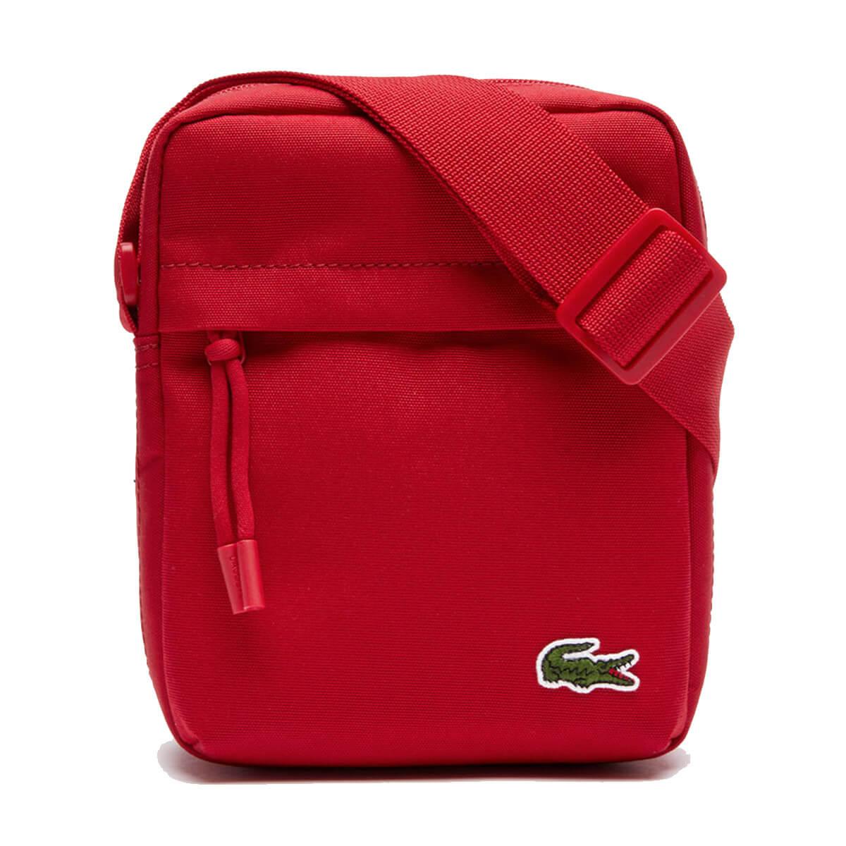 LACOSTE Shoulder Bag NH0323 Mens Classic Est Blue Coated Messenger Bags NEW R£80