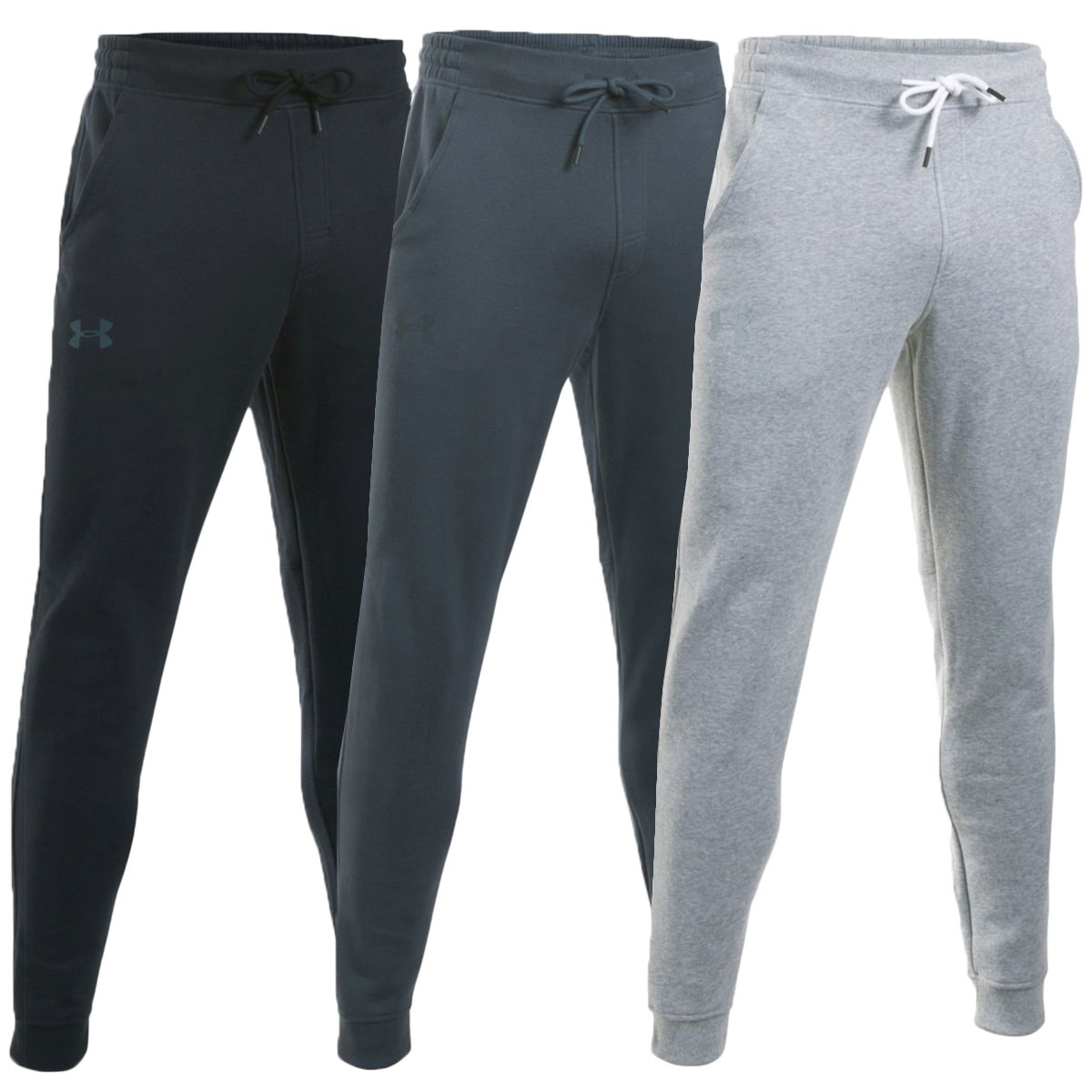 Details about Under Armour Mens Storm Rival Cotton Jogger Tapered Skinny  Jogging Bottoms 3e62e47067e0