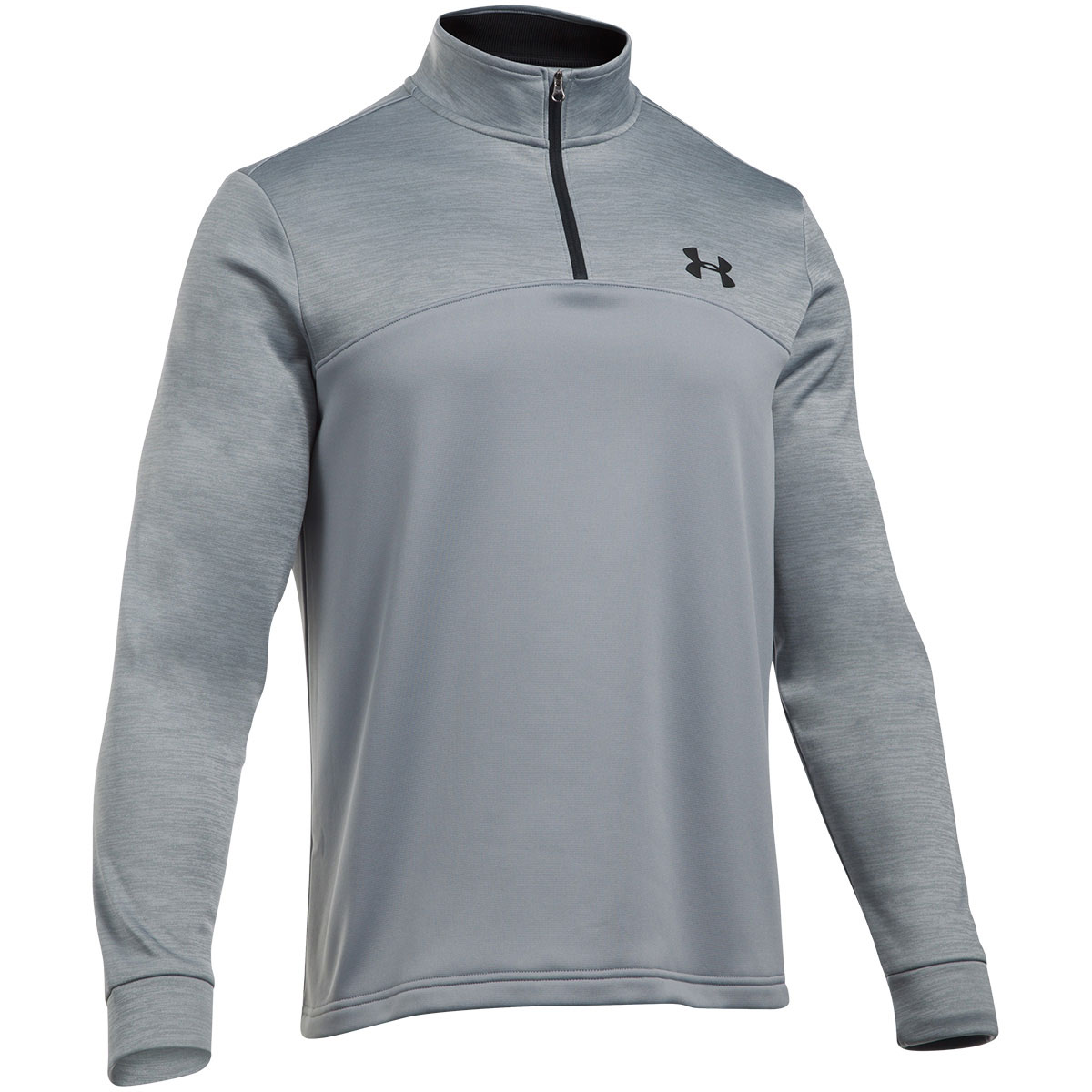 Under armour mens 2018 armour fleece icon 1 4 zip pullover for Flannel shirt under sweater