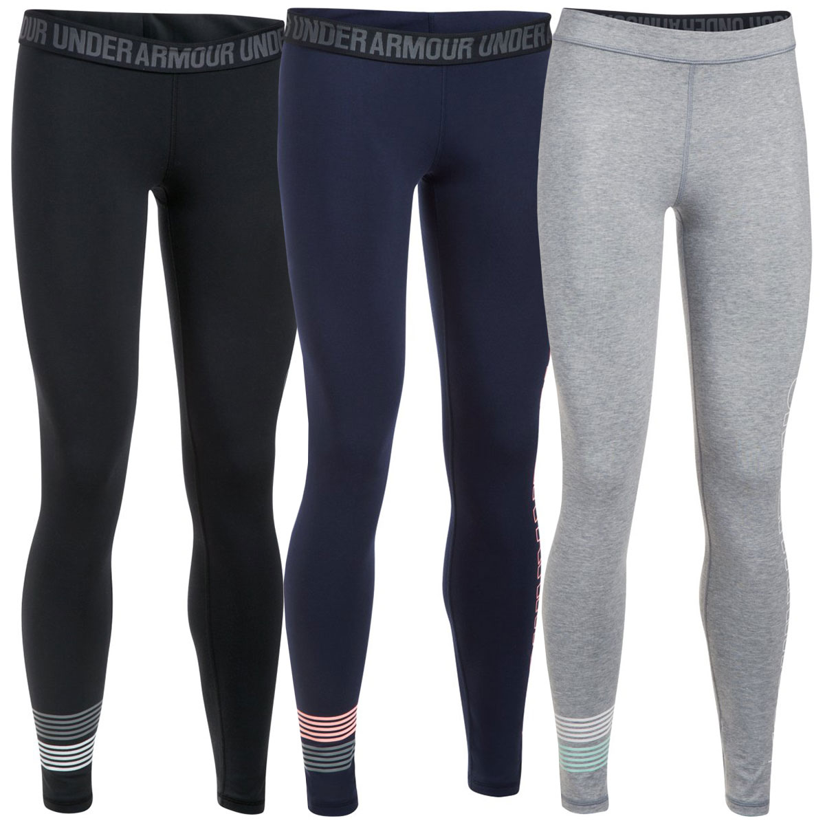 Under Armour Womens Favorite Graphic Gym Training Legging Bottoms 57/% OFF RRP