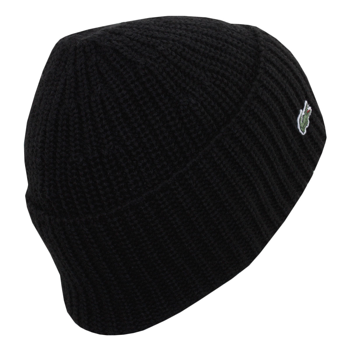 Lacoste Mens RB2729 Ribbed Wool Turned Edge Beanie Winter Wooly Hat ... 6b360d1985f