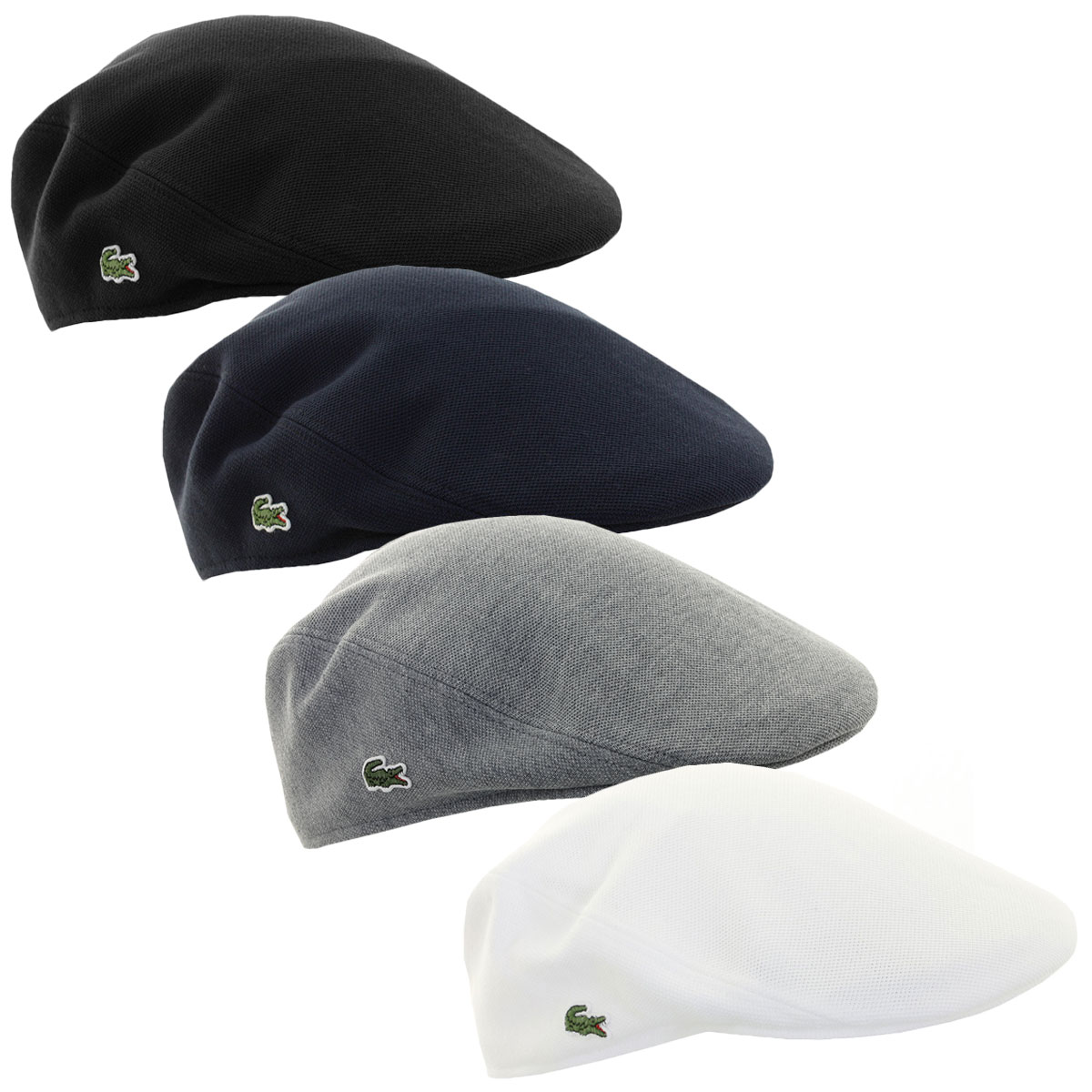 9f2594da3373b Details about Lacoste Mens RK0345 Cotton Pique Flat Golf Cap Traditional