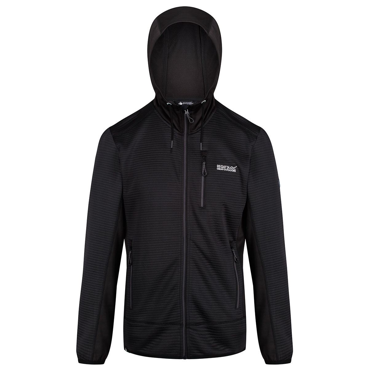 Regatta-Mens-Tarnis-II-Ribbed-Fabric-Stretch-Hoody-Jacket-70-OFF-RRP thumbnail 4