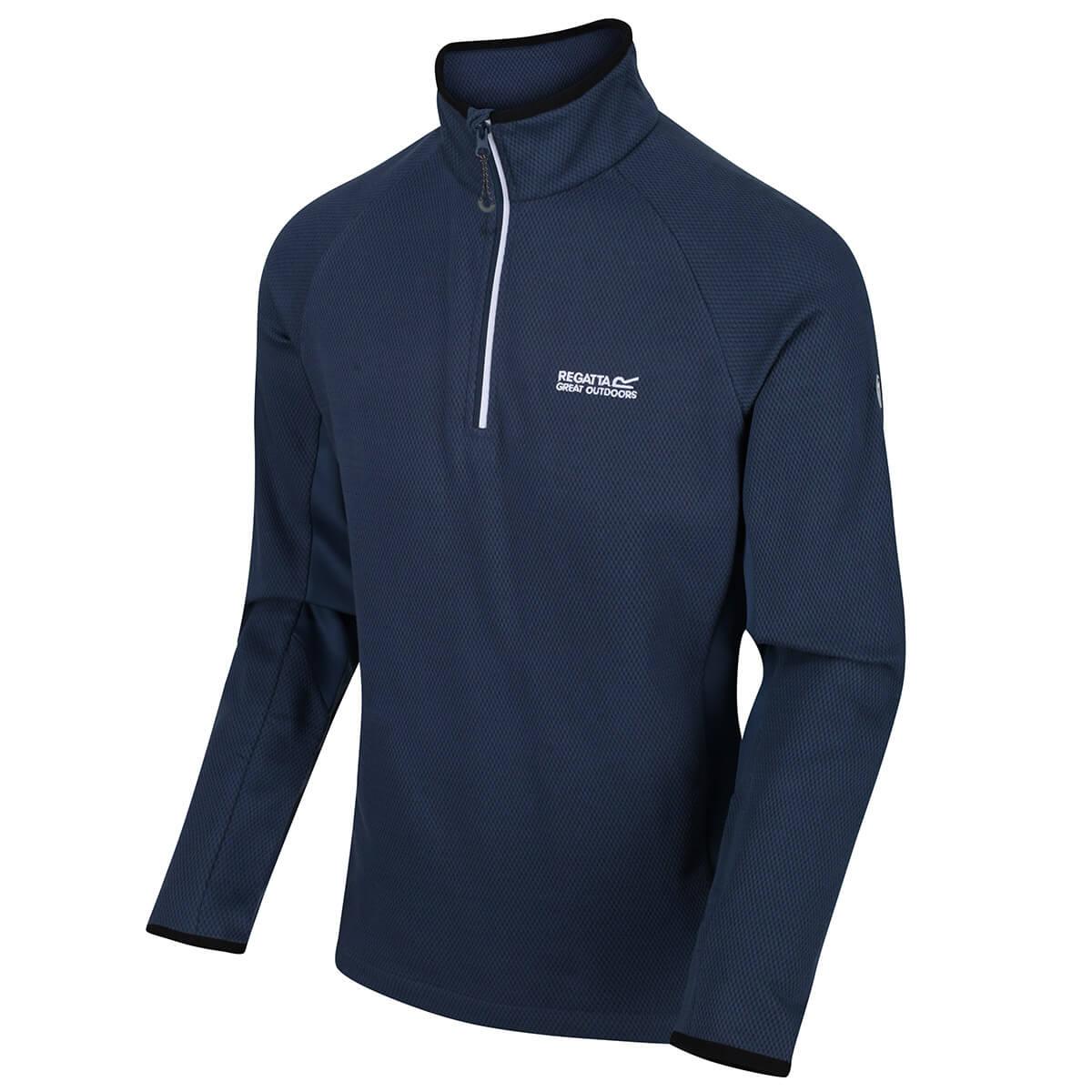 3XL Regatta Fleecepullover Herren Fleece Pullover 250 g//m² Schwarz oder Blau S