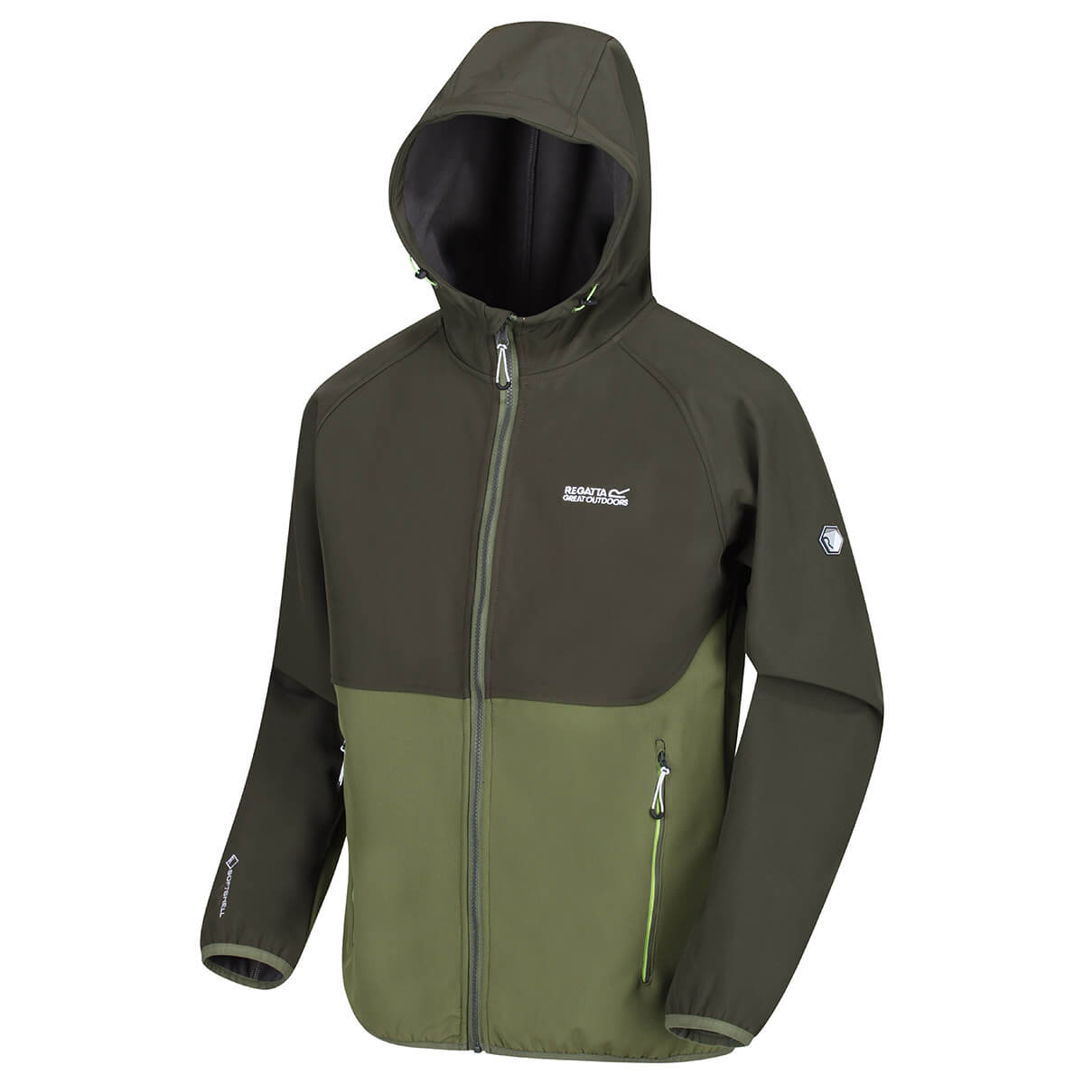Regatta-Mens-Arec-II-Softshell-Waterproof-Stretch-Hooded-Jacket-68-OFF-RRP thumbnail 4