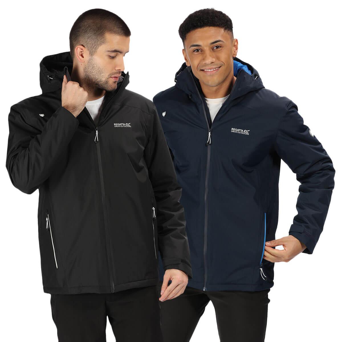 Regatta Pace II Lightweight Waterproof Jacket Mens Full Sleeves Zipped Hoodie