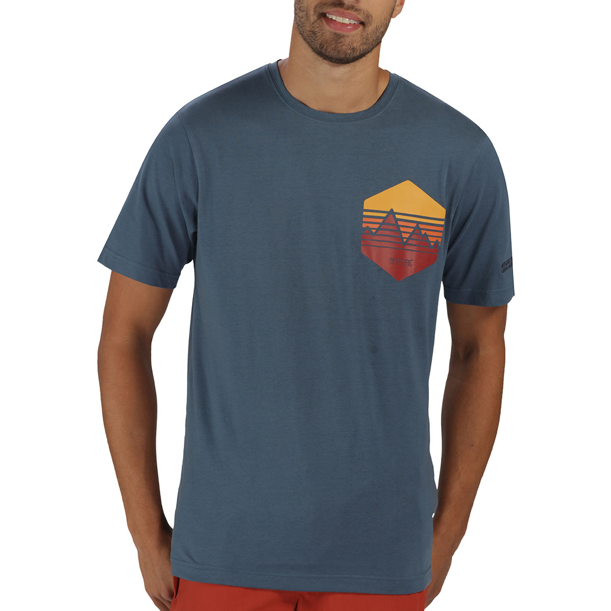 Regatta Mens Cline Coolweave Lightweight Graphic Tee T-Shirt 52% OFF RRP;  Picture 2 of 3 ...