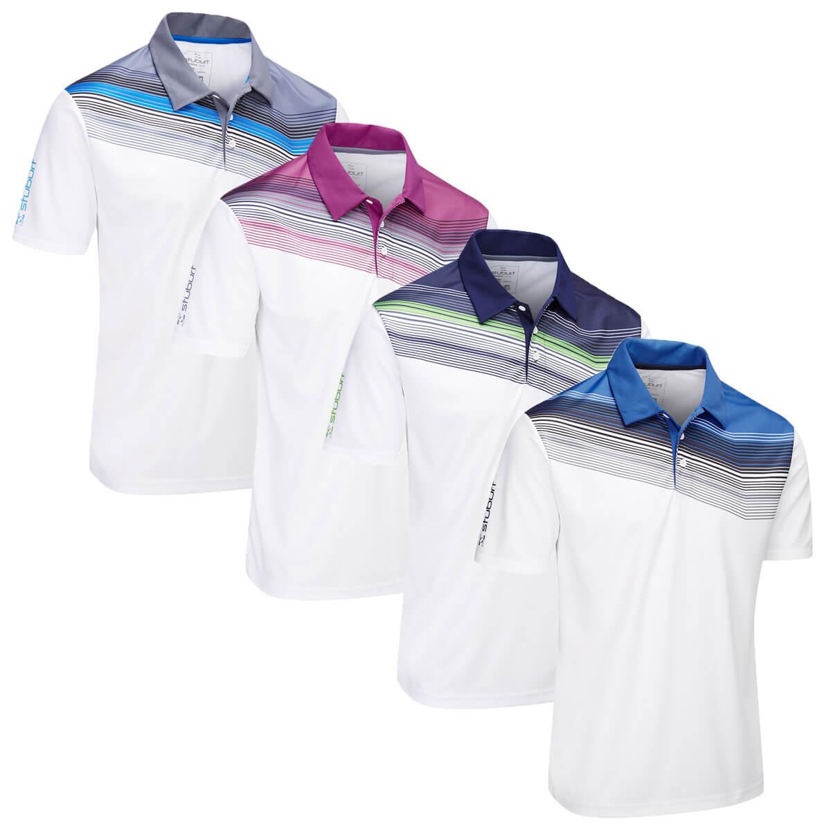 74cab8f61f0e9e Details about Stuburt Mens 2019 Evolve Upton Quick Drying Golf Polo Shirt