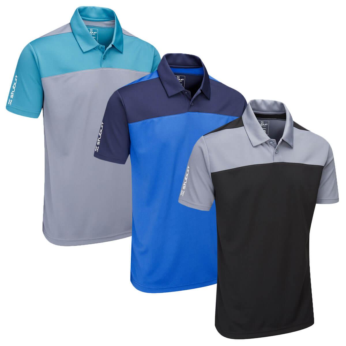 2358869f Details about Stuburt Mens 2019 Sport Tech Leyburn Moisture Wicking Golf  Polo Shirt