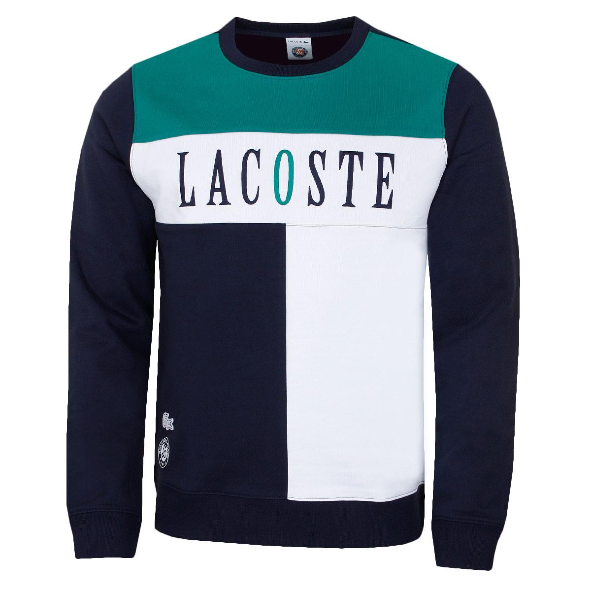 Details about Lacoste Mens 2019 Seasonal Roland Garros Crew Neck Tennis Sweater
