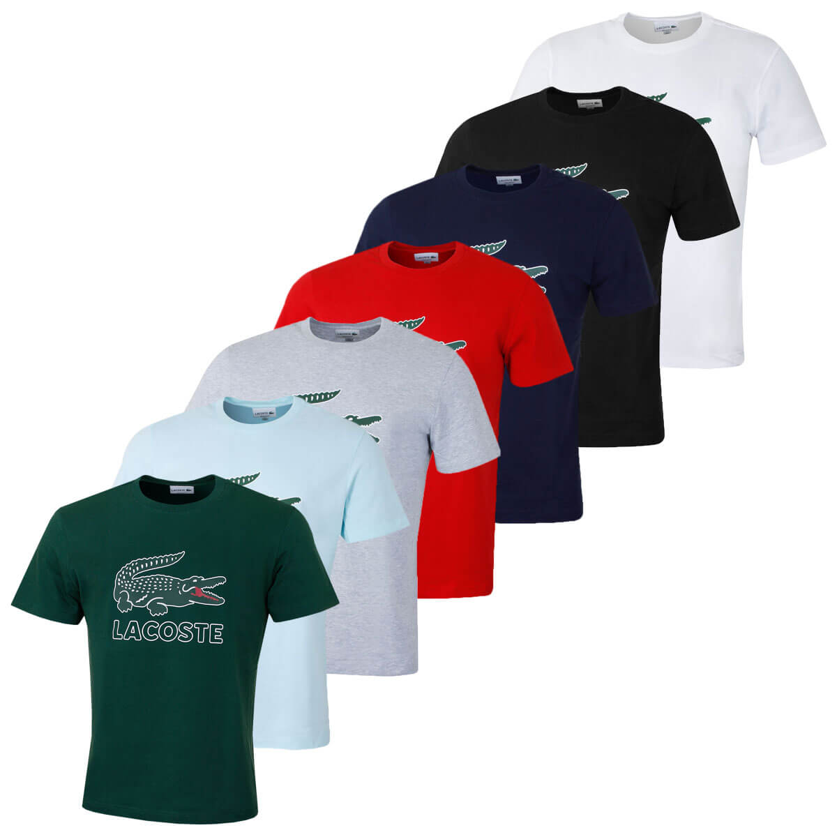 40619f9c Details about Lacoste Mens 2019 Graphic Jersey Print Croc Cotton Regular  Fit Crew Neck T-Shirt