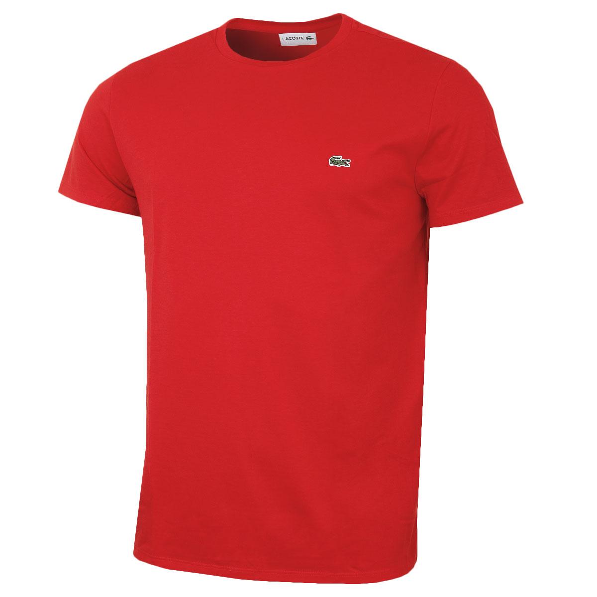LACOSTE-HOMME-2018-SS-a-encolure-ras-du-Cou-Coton-Pima-T-shirt-TH6709-26-Off-RRP