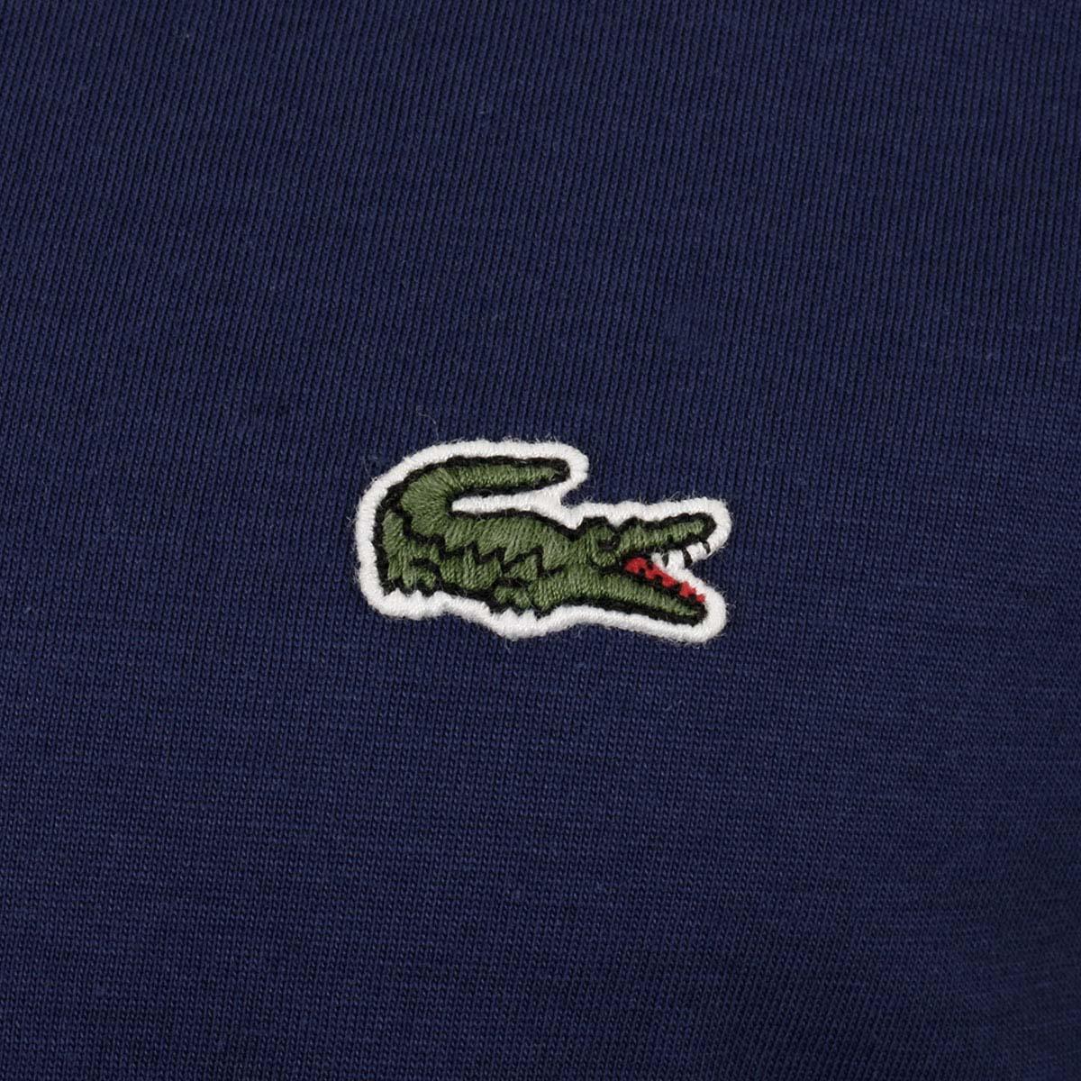 Lacoste-Mens-2019-SS-V-Neck-TH6710-Short-Sleeve-Pima-Cotton-Tee-T-Shirt thumbnail 17
