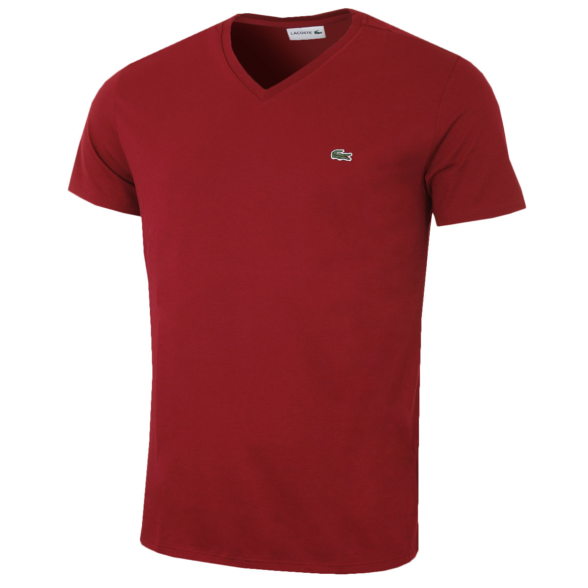 lacoste mens ss v neck t shirt th6710 short sleeve pima. Black Bedroom Furniture Sets. Home Design Ideas