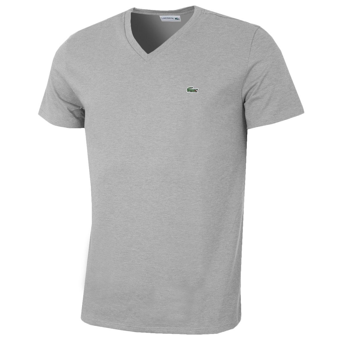 lacoste mens 2018 ss v neck t shirt th6710 short sleeve. Black Bedroom Furniture Sets. Home Design Ideas