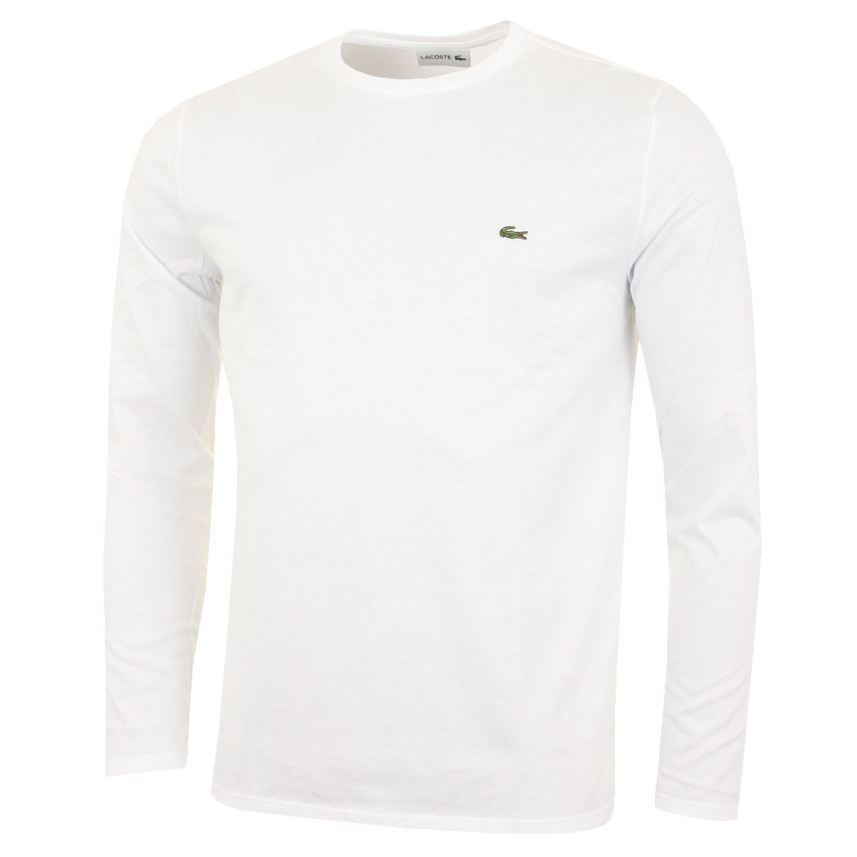 72a88757f7 Details about Lacoste Mens 2019 LS Crew Neck Cotton T Shirt TH6712 Long  Sleeve Tee
