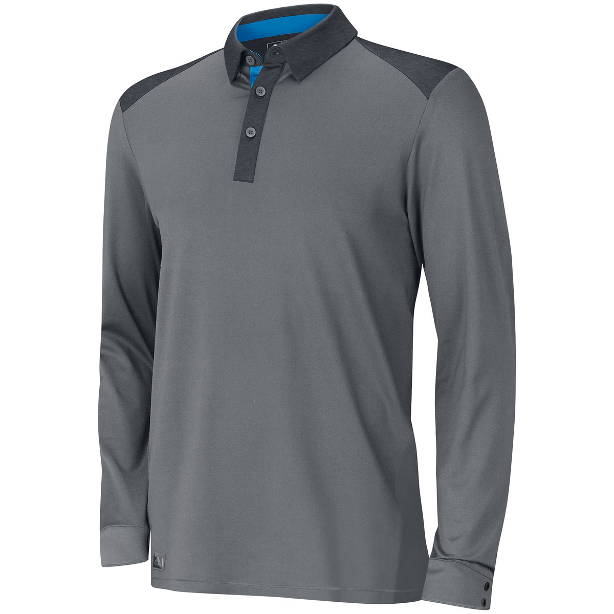 adidas golf 2015 mens fall weight heather long sleeve polo. Black Bedroom Furniture Sets. Home Design Ideas
