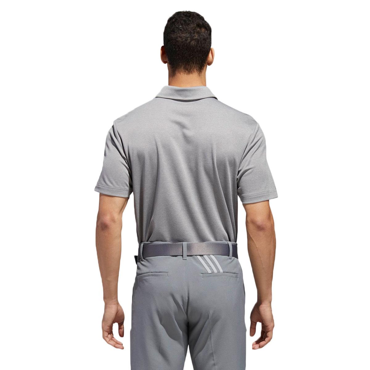 Adidas-Golf-Homme-3-Stripe-Heather-bloque-UPF-50-Polo-Shirt-43-off-RRP miniature 8