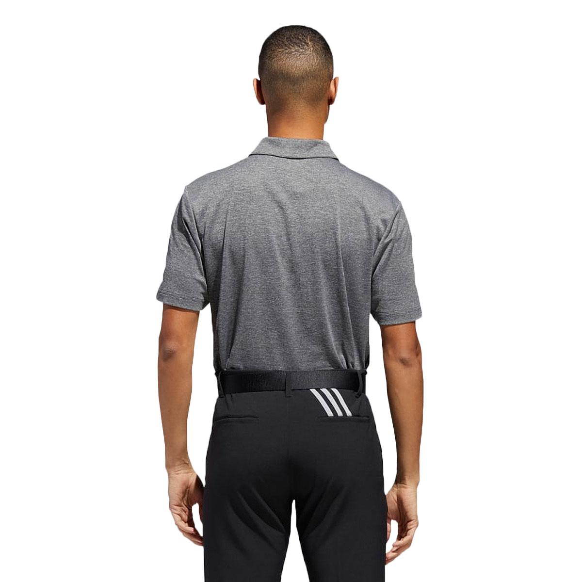Adidas-Golf-Homme-3-Stripe-Heather-bloque-UPF-50-Polo-Shirt-43-off-RRP miniature 3