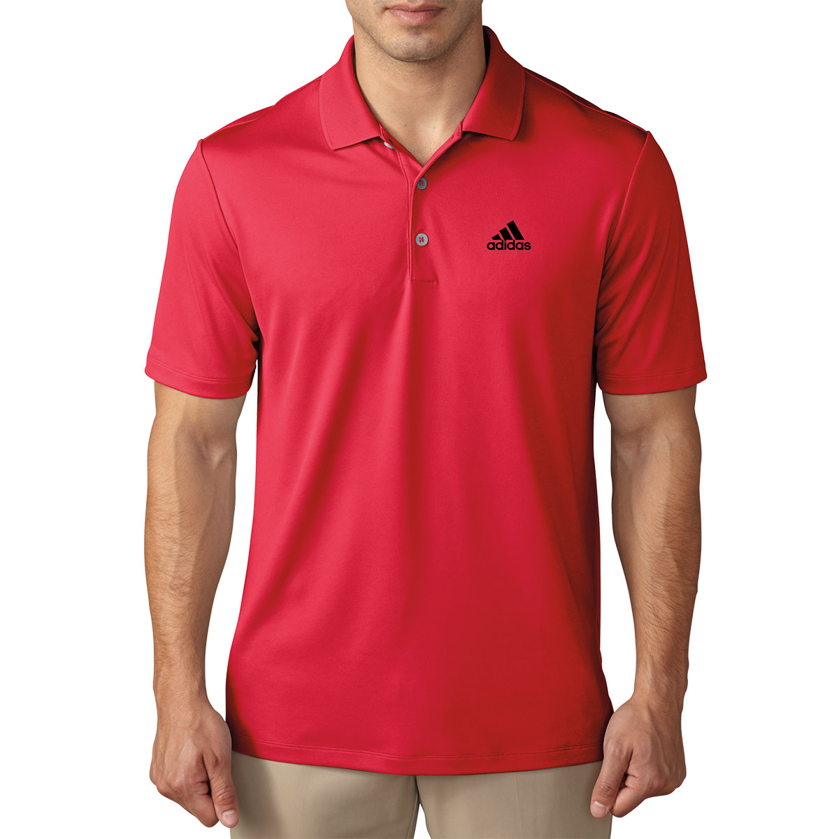 Adidas golf mens performance lc logo polo shirt for Polo shirts with logos