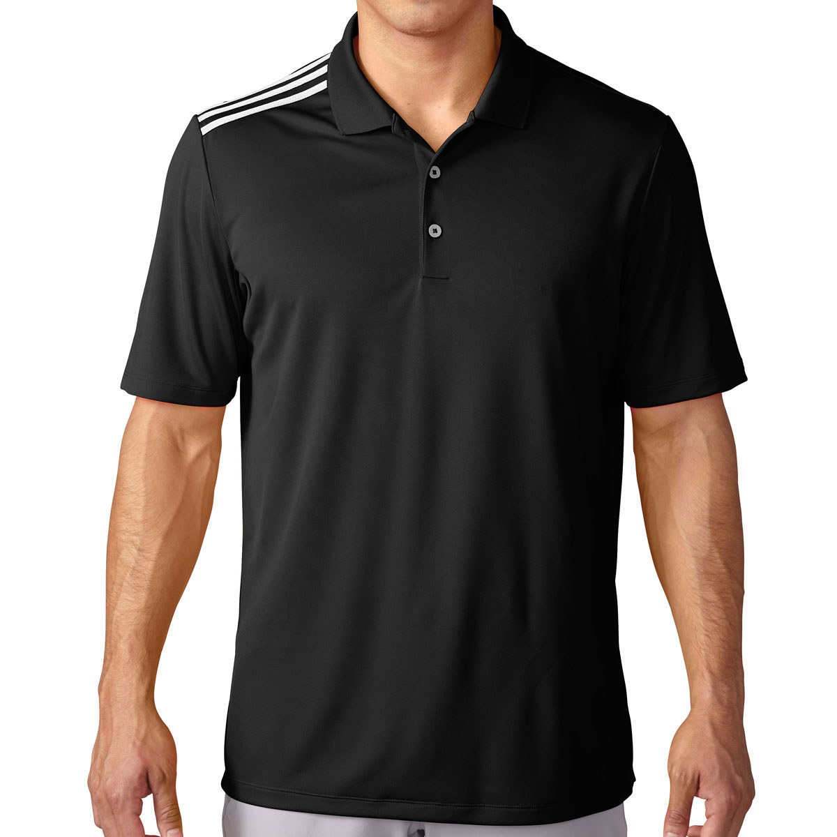 Adidas golf 2016 mens climacool 3 stripes performance polo for Men s performance polo shirts