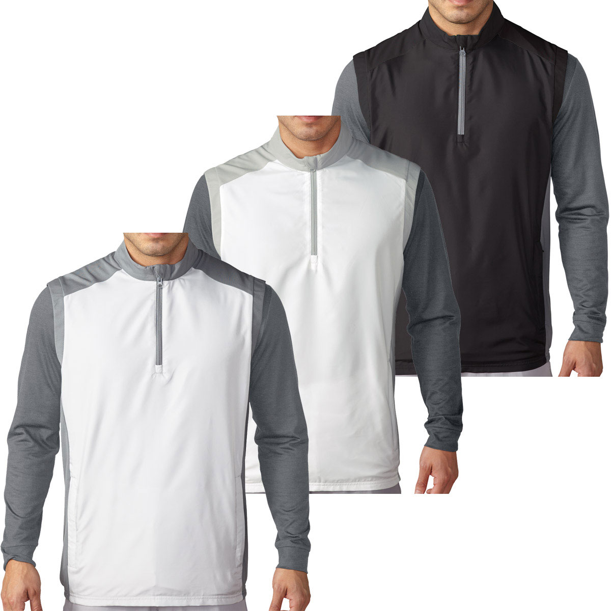 b9bb04774 Details about adidas Golf Mens Club Half Zip Wind Vest Windproof Pullover  Top 53% OFF RRP