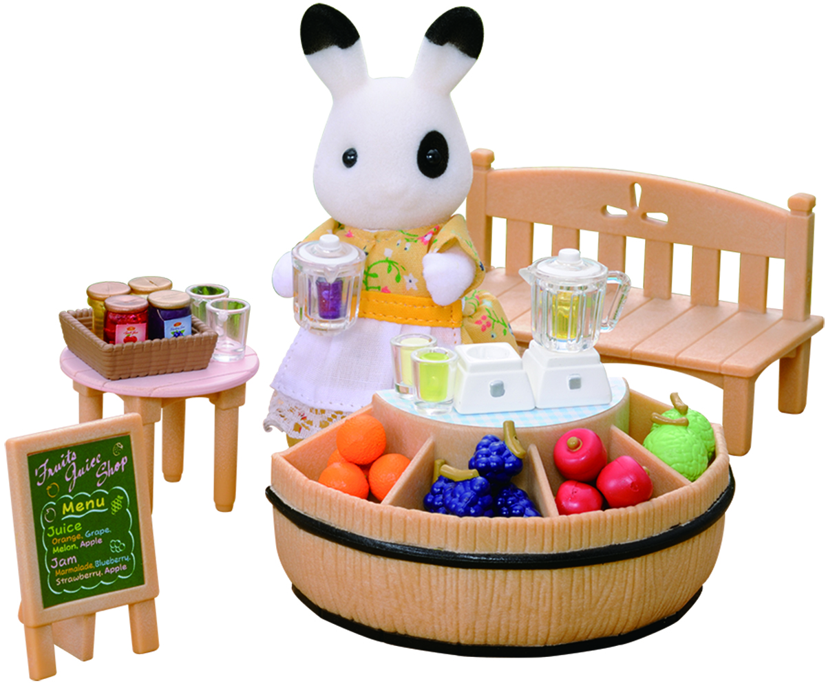 SYLVANIAN FAMILIES JUICE Bar and Figure - £17.99 | PicClick UK