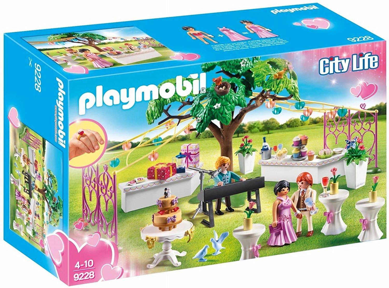 playmobil 9228 stadt leben hochzeit reception  kinder