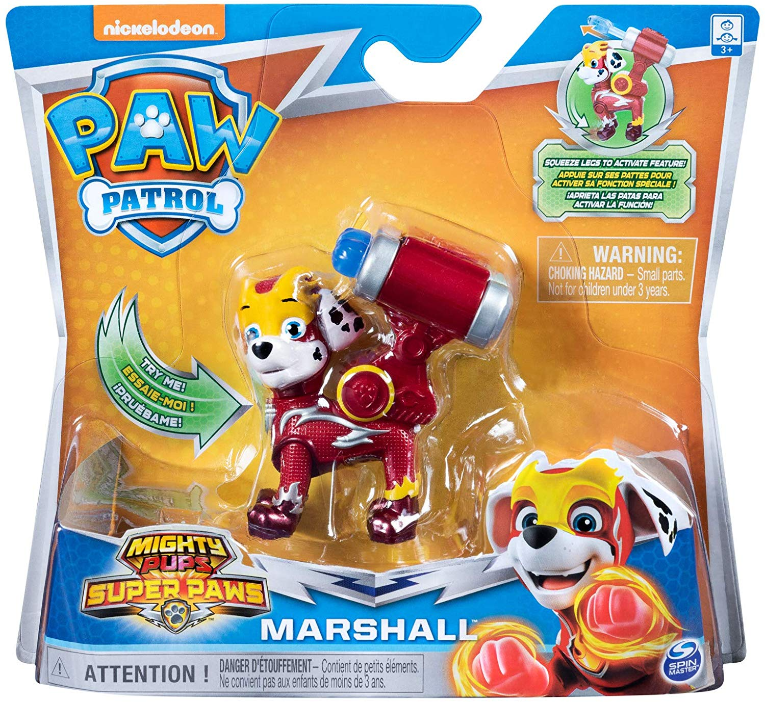 Paw Patrol 6054867 Power Changing véhicule Marshall