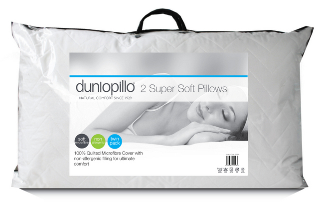 Dunlopillo Soft As Down Pillow Pack of