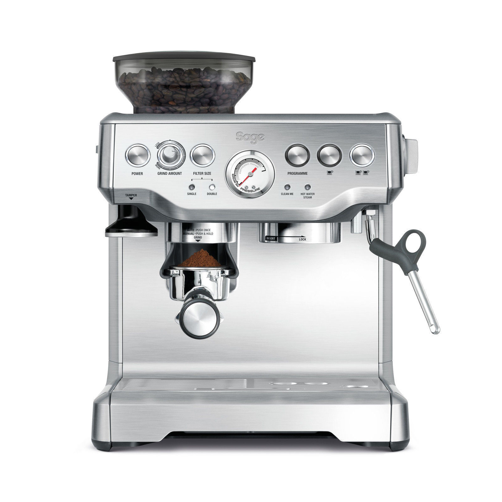 Details About Sage The Barista Express Bes870uk Bean To Cup Coffee Machine 2 Year Guarantee